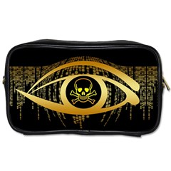Virus Computer Encryption Trojan Toiletries Bags 2-Side