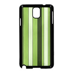 Greenery Stripes Pattern 8000 Vertical Stripe Shades Of Spring Green Color Samsung Galaxy Note 3 Neo Hardshell Case (Black)