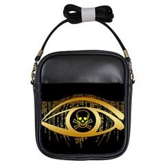 Virus Computer Encryption Trojan Girls Sling Bags