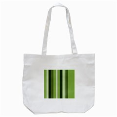 Greenery Stripes Pattern 8000 Vertical Stripe Shades Of Spring Green Color Tote Bag (White)