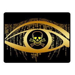Virus Computer Encryption Trojan Fleece Blanket (Small)