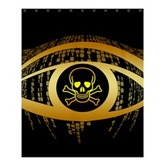 Virus Computer Encryption Trojan Shower Curtain 60  x 72  (Medium)