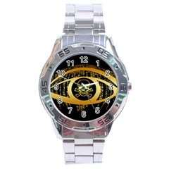 Virus Computer Encryption Trojan Stainless Steel Analogue Watch