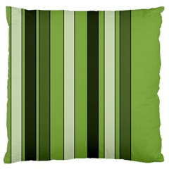 Greenery Stripes Pattern 8000 Vertical Stripe Shades Of Spring Green Color Standard Flano Cushion Case (One Side)