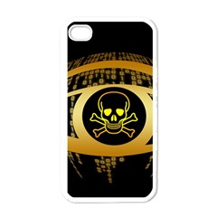 Virus Computer Encryption Trojan Apple iPhone 4 Case (White)