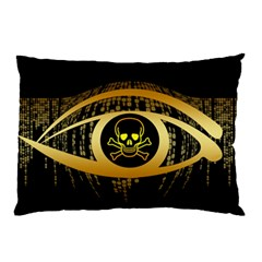 Virus Computer Encryption Trojan Pillow Case (Two Sides)