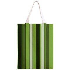 Greenery Stripes Pattern 8000 Vertical Stripe Shades Of Spring Green Color Classic Light Tote Bag