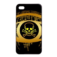 Virus Computer Encryption Trojan Apple iPhone 4/4s Seamless Case (Black)