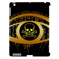 Virus Computer Encryption Trojan Apple iPad 3/4 Hardshell Case (Compatible with Smart Cover)