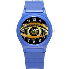 Virus Computer Encryption Trojan Round Plastic Sport Watch (S)