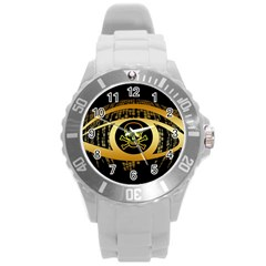 Virus Computer Encryption Trojan Round Plastic Sport Watch (L)