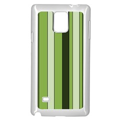 Greenery Stripes Pattern 8000 Vertical Stripe Shades Of Spring Green Color Samsung Galaxy Note 4 Case (White)