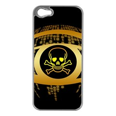 Virus Computer Encryption Trojan Apple iPhone 5 Case (Silver)