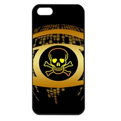 Virus Computer Encryption Trojan Apple iPhone 5 Seamless Case (Black)