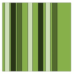 Greenery Stripes Pattern 8000 Vertical Stripe Shades Of Spring Green Color Large Satin Scarf (Square)