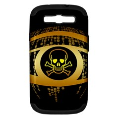 Virus Computer Encryption Trojan Samsung Galaxy S III Hardshell Case (PC+Silicone)