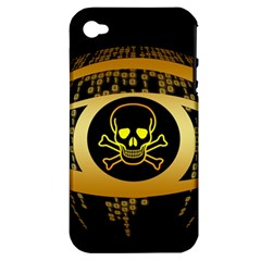 Virus Computer Encryption Trojan Apple iPhone 4/4S Hardshell Case (PC+Silicone)