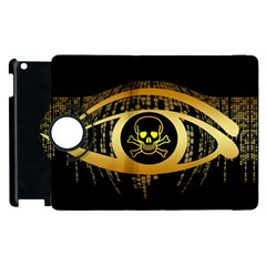 Virus Computer Encryption Trojan Apple iPad 3/4 Flip 360 Case