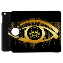 Virus Computer Encryption Trojan Apple iPad Mini Flip 360 Case