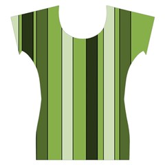 Greenery Stripes Pattern 8000 Vertical Stripe Shades Of Spring Green Color Women s Cap Sleeve Top