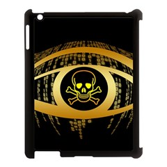 Virus Computer Encryption Trojan Apple iPad 3/4 Case (Black)