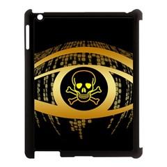 Virus Computer Encryption Trojan Apple iPad 3/4 Case (Black)