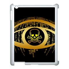 Virus Computer Encryption Trojan Apple iPad 3/4 Case (White)
