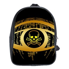 Virus Computer Encryption Trojan School Bags (XL)