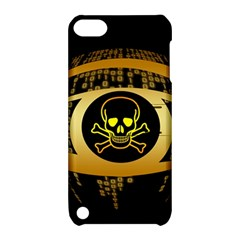 Virus Computer Encryption Trojan Apple iPod Touch 5 Hardshell Case with Stand
