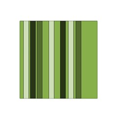 Greenery Stripes Pattern 8000 Vertical Stripe Shades Of Spring Green Color Satin Bandana Scarf