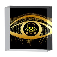Virus Computer Encryption Trojan 5  x 5  Acrylic Photo Blocks