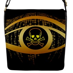 Virus Computer Encryption Trojan Flap Messenger Bag (S)