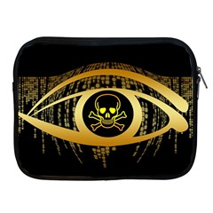 Virus Computer Encryption Trojan Apple iPad 2/3/4 Zipper Cases