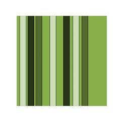 Greenery Stripes Pattern 8000 Vertical Stripe Shades Of Spring Green Color Small Satin Scarf (Square)