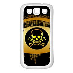 Virus Computer Encryption Trojan Samsung Galaxy S3 Back Case (White)