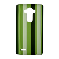 Greenery Stripes Pattern 8000 Vertical Stripe Shades Of Spring Green Color LG G4 Hardshell Case