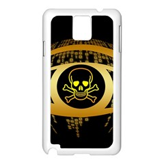 Virus Computer Encryption Trojan Samsung Galaxy Note 3 N9005 Case (White)