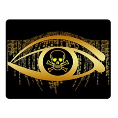 Virus Computer Encryption Trojan Double Sided Fleece Blanket (Small)