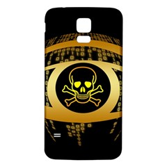 Virus Computer Encryption Trojan Samsung Galaxy S5 Back Case (White)