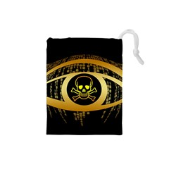 Virus Computer Encryption Trojan Drawstring Pouches (Small)