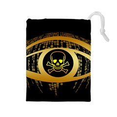 Virus Computer Encryption Trojan Drawstring Pouches (Large)