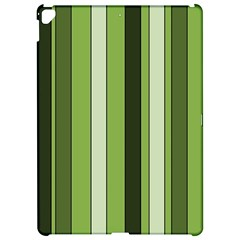 Greenery Stripes Pattern 8000 Vertical Stripe Shades Of Spring Green Color Apple Ipad Pro 12 9   Hardshell Case