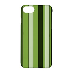 Greenery Stripes Pattern 8000 Vertical Stripe Shades Of Spring Green Color Apple Iphone 7 Hardshell Case