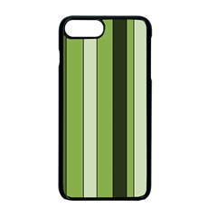 Greenery Stripes Pattern 8000 Vertical Stripe Shades Of Spring Green Color Apple Iphone 7 Plus Seamless Case (black)