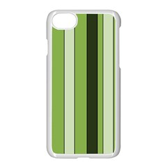 Greenery Stripes Pattern 8000 Vertical Stripe Shades Of Spring Green Color Apple Iphone 7 Seamless Case (white)