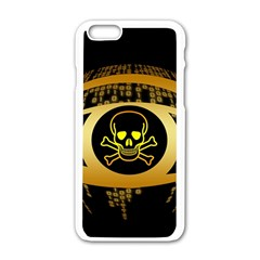 Virus Computer Encryption Trojan Apple iPhone 6/6S White Enamel Case