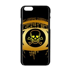 Virus Computer Encryption Trojan Apple iPhone 6/6S Black Enamel Case