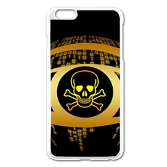 Virus Computer Encryption Trojan Apple iPhone 6 Plus/6S Plus Enamel White Case