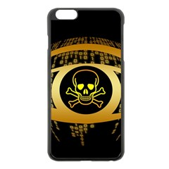 Virus Computer Encryption Trojan Apple iPhone 6 Plus/6S Plus Black Enamel Case