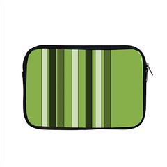 Greenery Stripes Pattern 8000 Vertical Stripe Shades Of Spring Green Color Apple Macbook Pro 15  Zipper Case